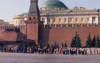 Rode Plein rij voor Lenin Mausoleum Sovjetunie